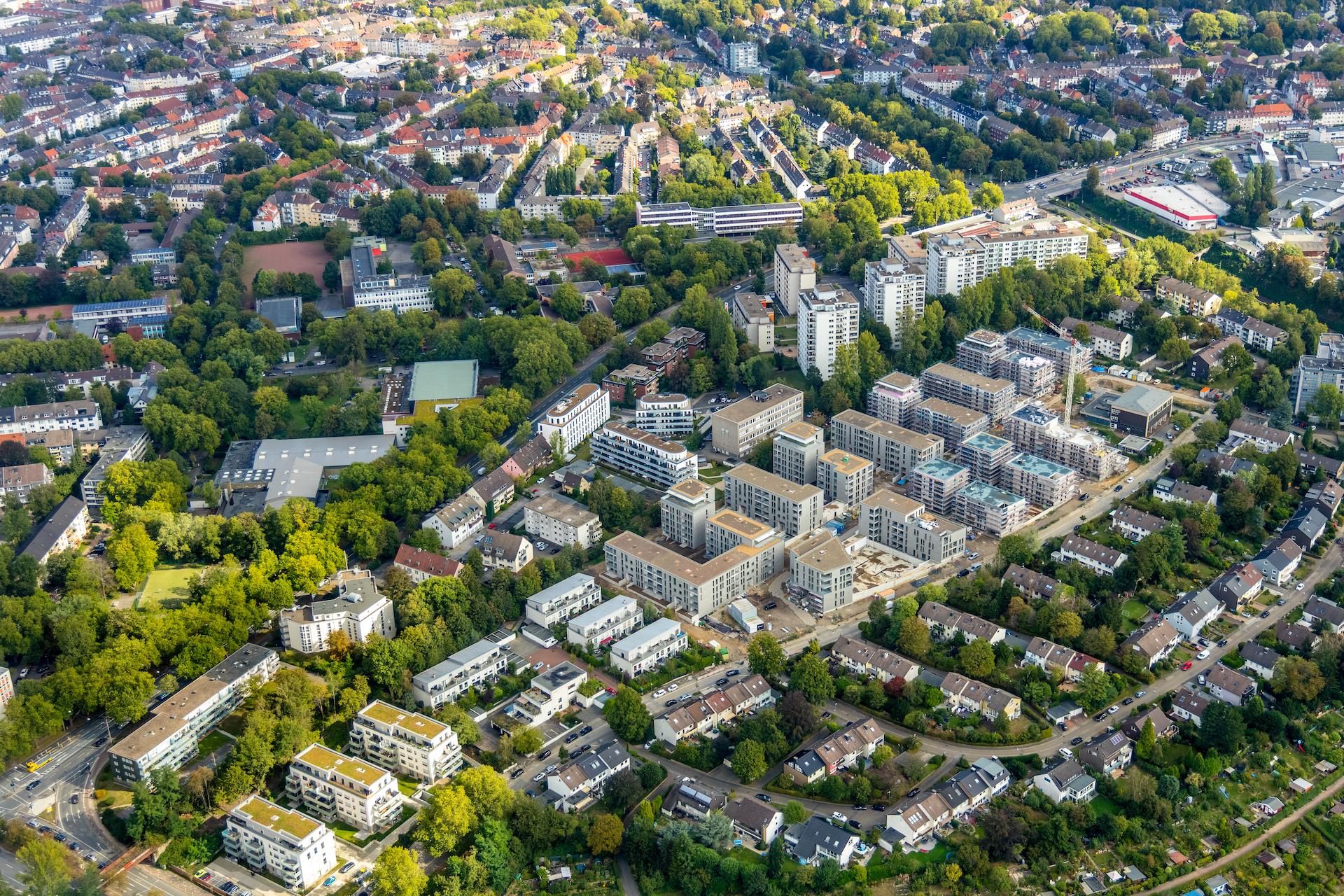 Parc Dunant: Wohnquartier in Rüttenscheid vor Fertigstellung